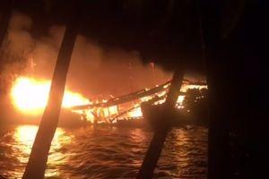 Tàu cá cháy trong đêm, thiệt hại gần 10 tỷ đồng