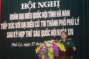 Đại tướng Ngô Xuân Lịch tiếp xúc cử tri Hà Nam