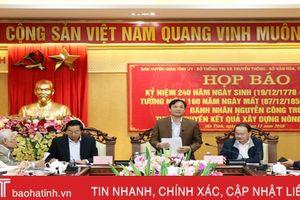 Tập trung tuyên truyền sâu rộng về những đóng góp của Nguyễn Công Trứ