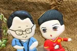 Cặp bánh quy hình HLV Park Hang-seo, Quang Hải và lời chúc ĐT Việt Nam vô địch AFF Cup 2018
