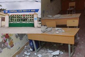Hải Phòng: Mảng trần nhà sập trúng đầu, 3 học sinh lớp 1 nhập viện cấp cứu