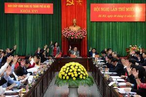 Hội nghị lần thứ 16, BCH Đảng bộ TP Hà Nội khóa XVI:Thành lập các tiểu ban chuẩn bị Đại hội lần thứ XVII Đảng bộ thành phố