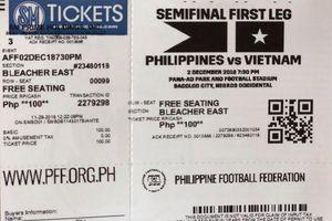 Vé trận bán kết lượt đi Philippines - Việt Nam được bán ở… quầy phim