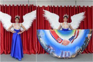 'Đối thủ' của Hoa hậu H'Hen Niê diện trang phục lấy cảm hứng từ thượng đỉnh Trump-Kim