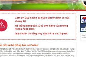 Bán vé online Việt Nam vs Philippines lại nghẽn vì 'khách hàng khác'