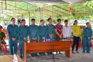 Bình Thuận xét xử chín đối tượng gây rối trật tự công cộng