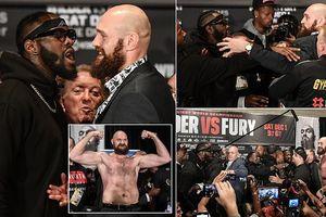 Tyson Fury và Deontay Wilder hỗn chiến trước 'đại chiến' quyền anh hạng nặng