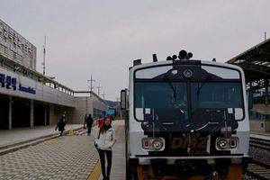Tàu hỏa Hàn Quốc xuất phát từ ga Seoul đi Triều Tiên vào ngày 30/11