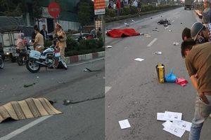 Hà Nội: Va chạm với xe ben, 2 người tử vong tại chỗ
