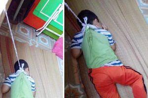 Nam Định: Xác minh hình ảnh bé trai 4 tuổi bị buộc dây vào người, nhốt vào kho