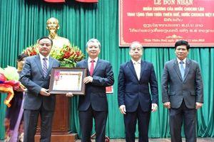 Thừa Thiên Huế nhận Huân chương Lao động hạng Nhất của CHDCND Lào