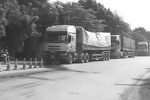 Phạt nghiêm đoàn xe quá tải vượt trạm cân