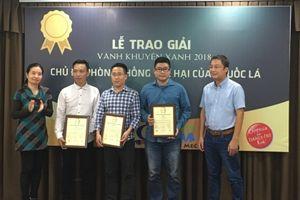 Phóng viên báo Tuổi trẻ Thủ đô đạt giải Vành Khuyên Xanh 2018