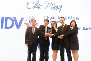 BIDV- Ngân hàng đầu tiên đạt giải 'Ngân hàng bán lẻ tiêu biểu' 3 năm liên tiếp