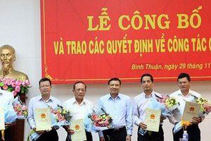 Nhân sự mới hai tỉnh Bình Thuận, Thừa Thiên Huế