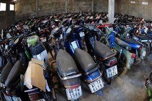 Công an phường Đồng Tâm (quận Hai Bà Trưng, Hà Nội) tìm chủ sở hữu của 3 xe máy