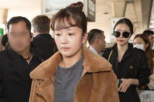 APink không trang điểm, để mặt mộc tại sân bay Tân Sơn Nhất