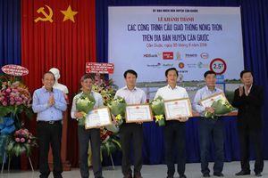 Khánh thành 10 cầu giao thông nông thôn tại Cần Giuộc, Long An