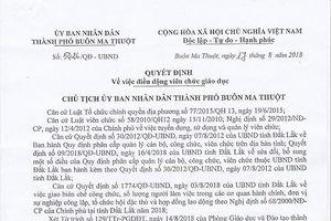 Giáo viên ở Đắk Lăk kêu cứu vì bị điều động một cách chưa trong sáng