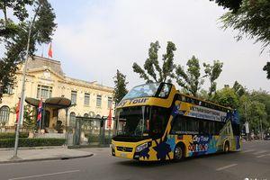 Xe bus 2 tầng Thăng Long có lộ trình qua 10 danh lam thắng cảnh của Hà Nội