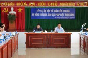 Hội đồng Phối hợp phổ biến, giáo dục pháp luật Trung ương: Kiểm tra công tác phổ biến, giáo dục pháp luật ở An Giang