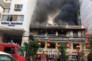Cháy nhà hàng ở phố Tây Nha Trang
