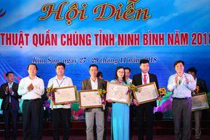 Tổng kết và trao giải Hội diễn nghệ thuật quần chúng tỉnh Ninh Bình năm 2018