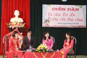 Diễn đàn 'Tự hào tôi là phụ nữ Việt Nam'