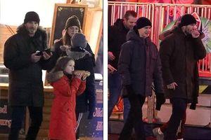 Vắng Victoria, David Beckham vui vẻ đưa các con đi chơi công viên