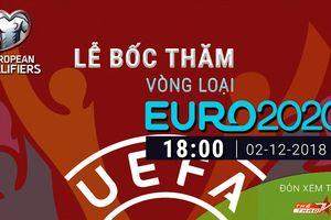 VTVcab trực tiếp lễ bốc thăm vòng loại UEFA Euro 2020 và VCK UEFA Nations League 2019