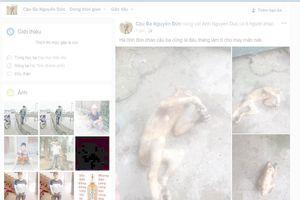 Thêm một đối tượng giết khỉ để nhậu rồi đăng facebook