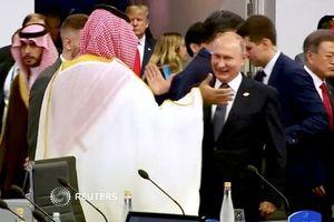 Màn chào hỏi gây 'sốt' giữa Tổng thống Putin và Thái tử Ả Rập Saudi tại G20