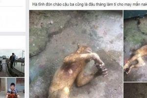 Hà Tĩnh: Lại giết khỉ rồi ngang nhiên đăng ảnh lên Facebook