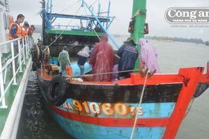 Cứu nạn tàu cá cùng 10 ngư dân