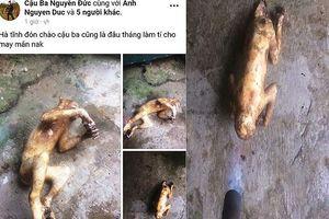 Lại một thanh niên 'khoe' hình khỉ bị giết lên facebook gây phẫn nộ