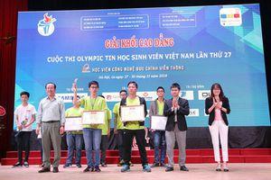 Đại học Bách khoa Hà Nội thắng lớn tại Olympic tin học sinh viên và ICPC châu Á 2018