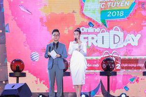 Hoa hậu Đỗ Mỹ Linh dẫn chương trình mua sắm trực tuyến