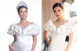 Vừa gây sốt với trang phục độc dị, Hoa hậu Hoàn Vũ Lào lại đụng hàng Diễm Trang
