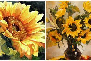 Bộ tranh vẽ hoa hương dương đẹp nhất