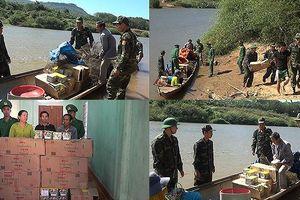 Bắt hơn 390 kg pháo lậu trên sông biên giới Sê