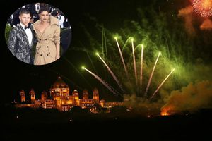 Clip: Mãn nhãn với màn bắn pháo hoa trong đám cưới của Nick Jonas và Hoa hậu Priyanka Chopra
