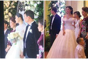 Á hậu Thanh Tú mặc váy cưới đẹp cực phẩm trong lễ cưới với CEO điển trai