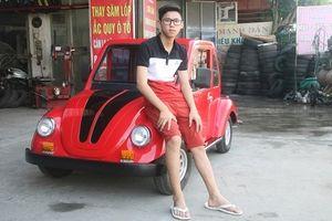Nam sinh lớp 11 ở Nam Định chế tạo thành công ô tô chạy bằng năng lượng mặt trời