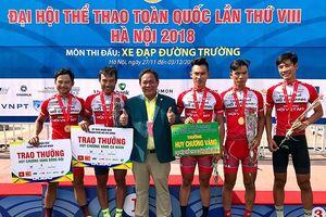 Xe đạp nam TP.HCM 'gây bão' giải Đại hội TDTT 2018