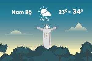 Thời tiết ngày 3/12: Bắc Bộ nắng, Nam Bộ mưa