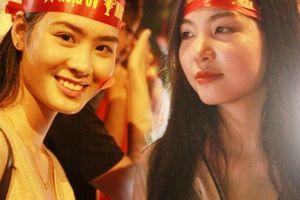 'Cô gái xinh nhất vịnh Bắc Bộ' đi bão mừng chiến thắng của tuyển Việt Nam