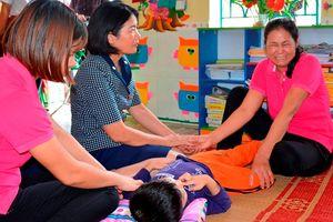 Bộ GD&ĐT kiểm tra việc dạy trẻ khuyết tật tại Trường Mầm non B Trực Đại