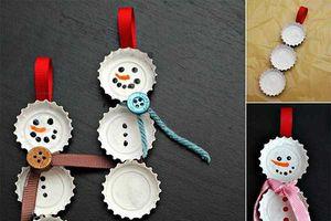 Trang trí Noel đơn giản bằng đồ handmade đẹp lung linh