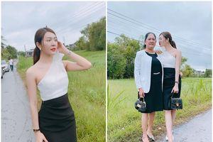 Về quê An Giang đi ăn cưới, Hoa hậu Thiên Hương bị mẹ giục lấy chồng