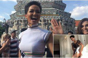 Hở đủ rồi, H'Hen Niê nhanh chóng biến hóa 'kín cổng cao tường' khi đi chùa tại Miss Universe 2018